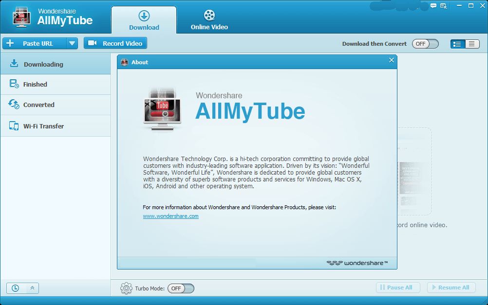 Wondershare AllMyTube new