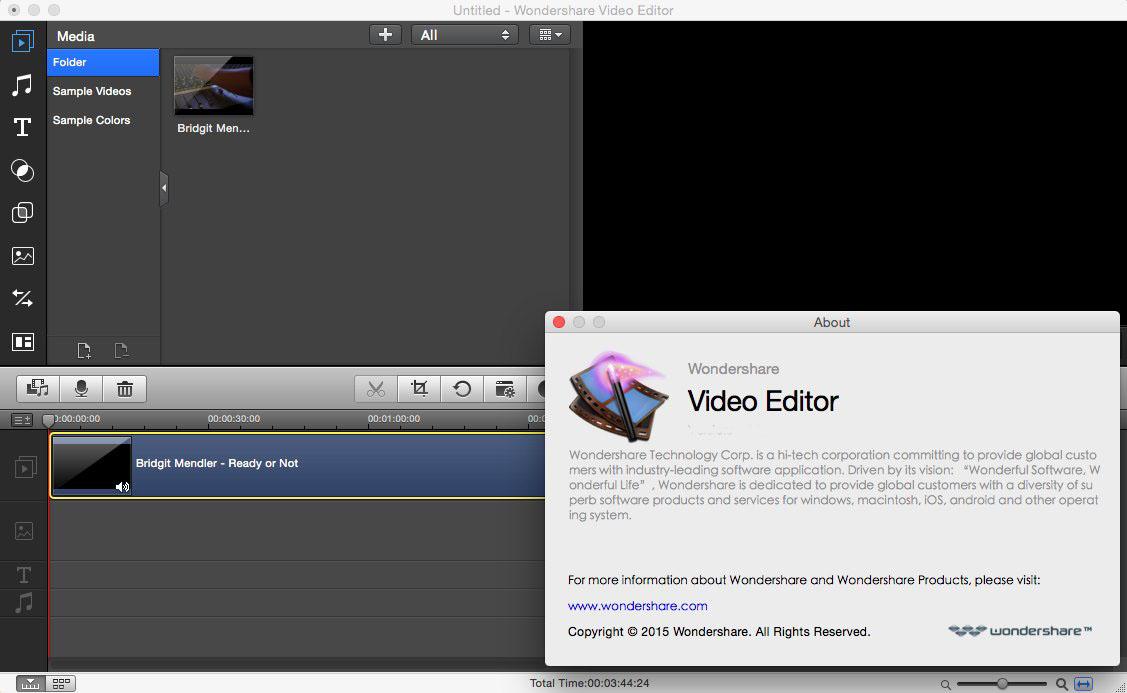 Wondershare Video Editor mac