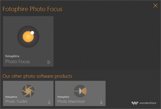 Wondershare Fotophire Photo Focus